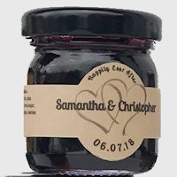 Blueberry Bourbon Jam Wedding Favors