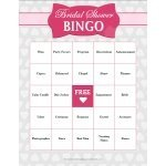 FREE Bridal Shower Bingo Game