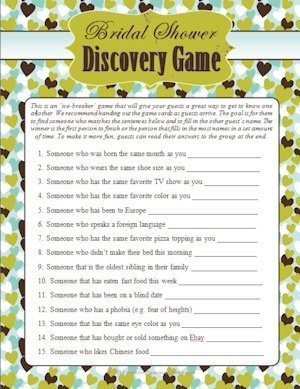 Wedding Shower Guest Discovery Game image