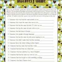 Wedding Shower Guest Discovery Game