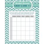 FREE Bridal Shower Grid Game