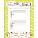 FREE Bridal Shower Word Jumble Game