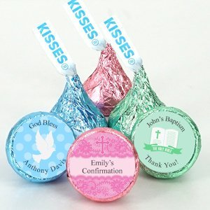 Personalized First Communion Chocolate Hershey Kisses image