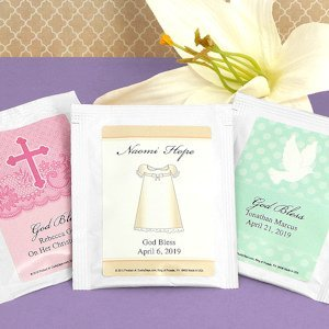 Personalized Communion Tea Bag Favors image