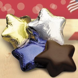 Dark Chocolate Stars (Set of 34 - 4 Color Options) image