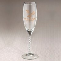 Personalized Fall Themed Champagne Flutes