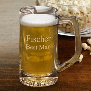 Personalized 12 oz Sports Beer Mugs image