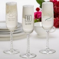 Printed Champagne Flutes