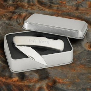 Personalized Stainless Steel Lock Back Knife image
