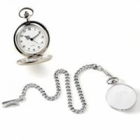 Engraved High Polish Pocket Watch