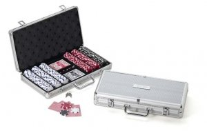 Poker Chip Set with Engraved Case image