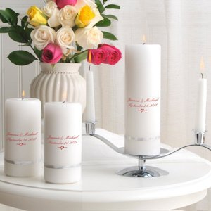 Deluxe Personalized Unity Candle Sets for Weddings image