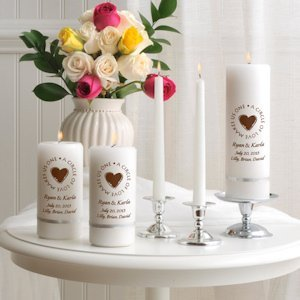 Second Marriage Unity Candle Set image