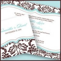 Stationery - Love Bird Damask