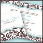 Love Bird Damask Stationery Collection