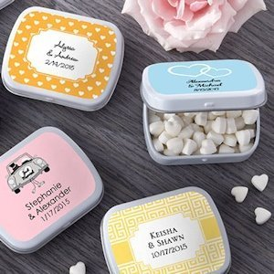Personalized Wedding Mint Tins (165 Designs) image