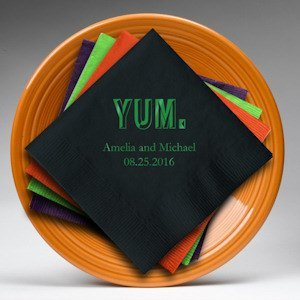 YUM Printed Personalized Wedding Napkins (Set of 100) image