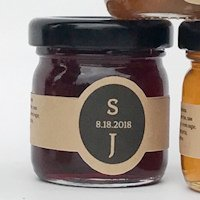 Raspberry Smoked Maple Jam Wedding Favors