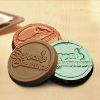 Season's Greetings Chocolate Coins (Case of 250)
