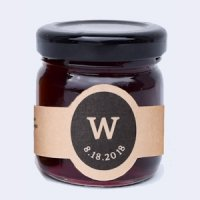 Organic Strawberry Jam Personalized Wedding Favors