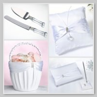 Collection - White Sash Rhinestone